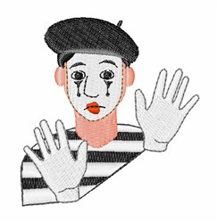 Mime embroidery design