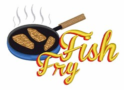 Fish Fry Food embroidery design