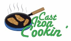 Cast Iron Cookin embroidery design