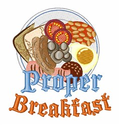 Proper Breakfast embroidery design