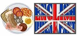 English Breakfast embroidery design
