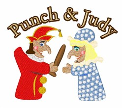 Punch & Judy embroidery design
