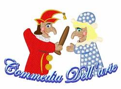 Commedia Dellarte embroidery design
