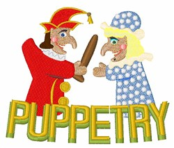 Puppetry embroidery design