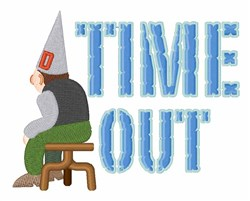 Time Out embroidery design