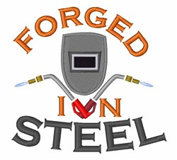 Forged In Steel embroidery design