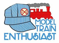 Model Train Enthusiast embroidery design