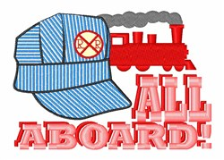 All Aboard! embroidery design