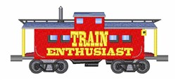 Train Enthusiast embroidery design