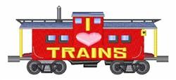 I Love Trains embroidery design