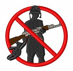 Stop Child Soldiers embroidery design