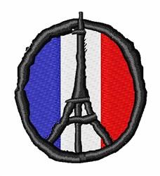 Peace For Paris embroidery design