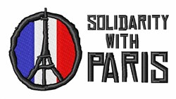 Solidarity With Paris embroidery design