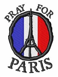Pray For Paris embroidery design