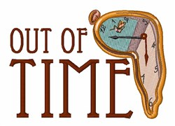 Out Of Time embroidery design