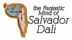 Salvador Dalis Mind embroidery design