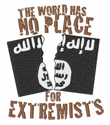 No Extremists embroidery design