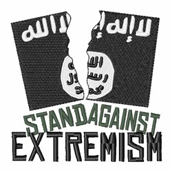 Stand Against Extremism embroidery design
