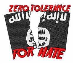 Zero Tolerance embroidery design