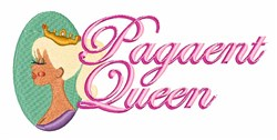 Pagaent Queen embroidery design
