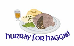 Hurray For Haggis! embroidery design