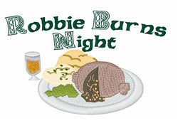 Robbie Burns Night embroidery design