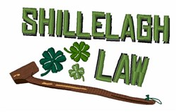 Shillelagh Law embroidery design