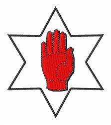 Red Hand Of Ulster embroidery design