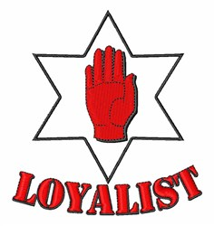 Ulster Loyalist embroidery design