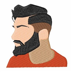 Hipster Man embroidery design