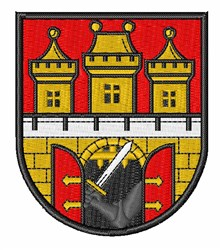 Prague Coat Of Arms embroidery design