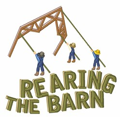 Rearing The Barn embroidery design