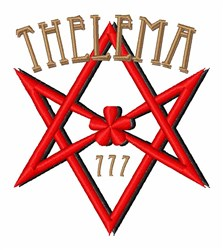 Thelema 777 embroidery design