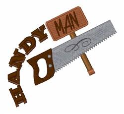 Handy Man embroidery design