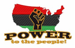 Power To People embroidery design