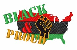 Black & Proud embroidery design