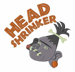 Head Shrinker embroidery design