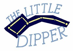 Little Dipper embroidery design