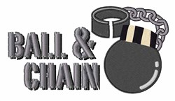 Ball & Chain embroidery design