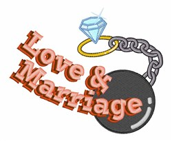 Love & Marriage embroidery design