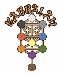 Kabbalah embroidery design
