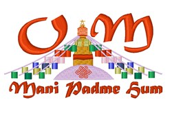 Om Mani Padme Hum embroidery design