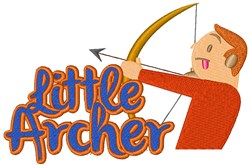 Little Archer embroidery design