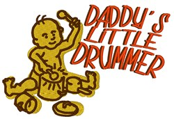 Daddys Little Drummer embroidery design
