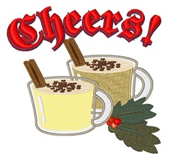 Egg Nog Cheers! embroidery design