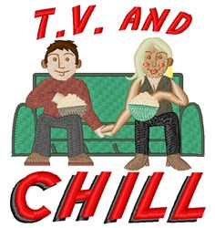 TV & Chill embroidery design