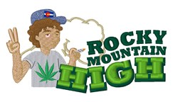 Rocky Mountain High embroidery design