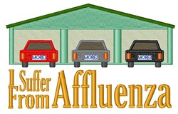 Suffer From Affluenza embroidery design