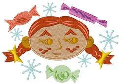 Sugar & Spice Girl embroidery design