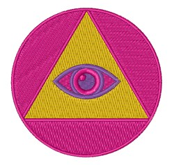 Eye In Pyramid embroidery design